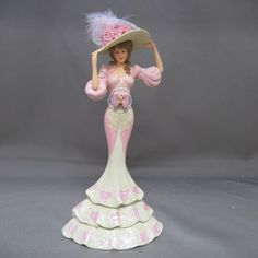 Style Spun From Grace Lady Figurine Thomas Kinkade Beauty Laced with Hope