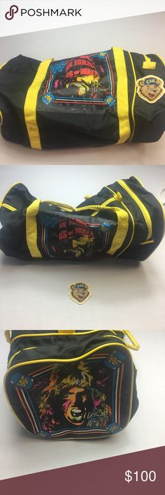 Vintage WwF Hulk Hogan & Ultimate Warrior Gym Bag Vintage WWF Wrestlers Hulk Hogan and Ultimate Warrior Gym Bag. Bag is in excellent condition. Features Extra side zippered pocket. Oversized Pictures or Hulk Hogan and The Ultimate Warrior. Vintage Bags Duffel Bags