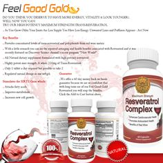 Potent Quality Trans-Resveratrol - I take resveratrol daily and this is a good, strong antioxidant. Helps keep heart healthy, strengthens the immune system, helps maintain good cholesterol.. from Amazon Review