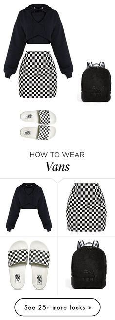 """Ch-ïll"" by lolitsbrit on Polyvore featuring Vans and Puma"