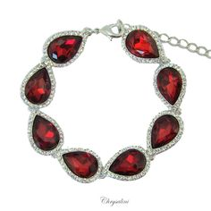 Red crystal bracelet. CB1020