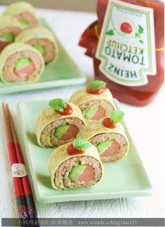 【食譜】中西皆宜Heinz亨氏番茄醬—-蛋包番茄熱狗捲 | 小熊與廚房的非常關係
