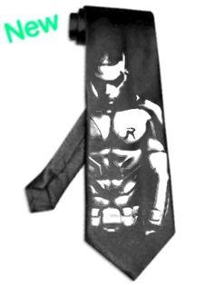 batman Robin tie satin silk BLACK superhero super hero necktie