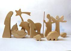 Stylish Natural Nativity Set 6 Handmade Pieces от LovingWoodCom