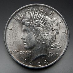 1924 Us Mint Collectible One Silver Peace Dollar – Gold Stream Boutique