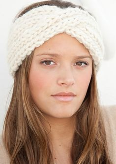 This turban-style headband is on my to-do list. (Once I get bigger needles and thicker yarn.)