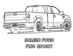 Ford Utes Coloring Pages