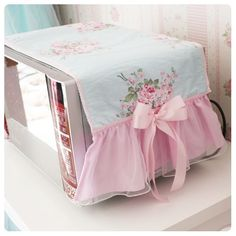 Korean style home textile microwave oven cover pastoral flower print fabric microwave oven cloth with bow quality yarn lace edge Find here online price details of companies selling Appliance Covers. Sewing Crafts, Sewing Projects, Appliance Covers, Kitchen Linens, Microwave Oven, Sofa Covers, Shabby Chic Furniture, Furniture Projects, Home Textile