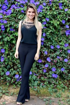 Blog da Barbarela: Look: Calça flare e look todo preto                                                                                                                                                     Mais