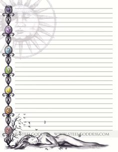Journal Paper Writing Paper Journal Pages Lined by steelgoddess