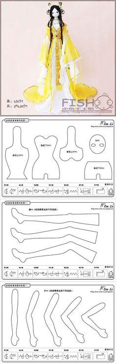 Tryapiensy doll pattern variations