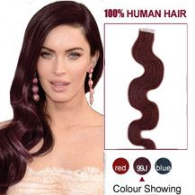 100% remy human hair extensions and very competitive price! Tape on extensions, good flexibility and very strong. Very easy to attach.Can be washed,heat styled. High quality,Silky soft. 40-60 pieces are recommended for whole head.