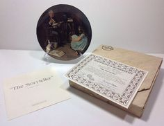 Norman Rockwell The Storyteller Rockwell Heritage Collection Plate U9948 Bradex
