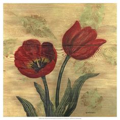 World Art Group, Tulip on Wood, Wendy Russell