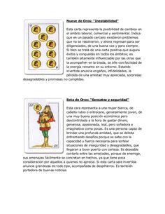 """Nueve de Oros: """"Inestabilidad"""" Esta carta representa la posibilidad de cambios en el ámbito laboral, comercial y sentiment..."""