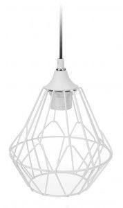 Lampa geometryczna druciana - biała nr. 1