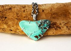 McGinnis Turquoise Pendant Necklace. Heart Turquoise Necklace.