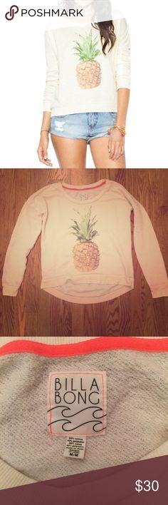 Billabong sweatshirt Billabong pineapple sweatshirt size large- runs small Billabong Tops Sweatshirts & Hoodies