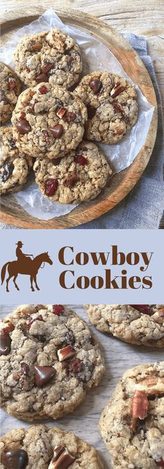 "A healthier ""everything but the kitchen sink"" kind of Cowboy Cookie. Mom's Kitchen Handbook"