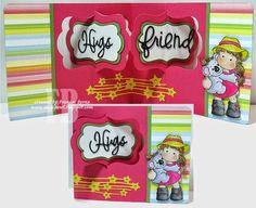 Frances Byrne using the Pop it Ups Katie Label Pivot Card die set by Karen Burniston for Elizabeth Craft Designs. - Hug an Aussie!