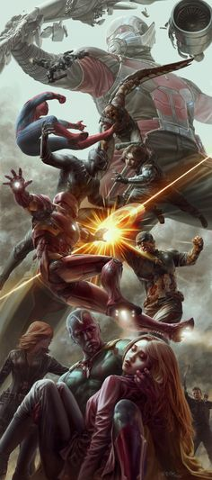 Marvel vs. DC — league-of-extraordinarycomics: Civil War by Jong... - Visit to grab an amazing super hero shirt now on s