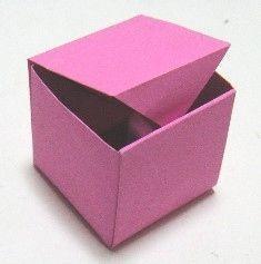 1枚のおりがみで作るフタ付きの箱 : 【折り紙】箱の作り方・折り方 - NAVER まとめ