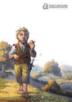 m Halfling Rogue Thief traveller farmland plains hills forest halfelin_by_Gawain.jpg (541×765)