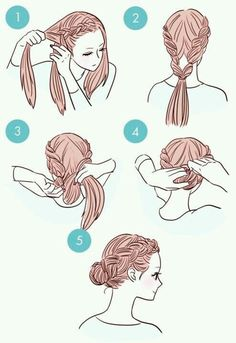 Step by Step Braids + Chignone basso