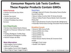 CONFIRMED! Lab tests show over 30 popular food products contain GMOs. Are you eating them? http://foodbabe.com/2014/10/10/confirmed-lab-tests-show-over-30-popular-food-products-contain-gmos-are-you-eating-them/