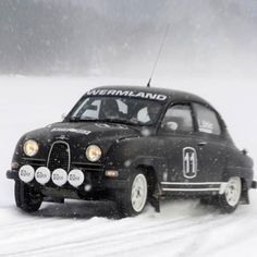 Is there anything better than driving a Saab in the snow? I was once so green I chained up the rear wheels on my Saab! Ha!: