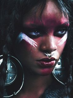 The Amazonian Warrior Queen: Rihanna for W Magazine September 2014 issue by Mert Alas and Marcus Piggott.