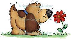 Sweet Sniffs of Spring - so I love dog stamps!