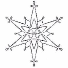 15 crochet snowflakes patterns- free patterns – Turcoaz cu Vanilie - Her Crochet Crochet Snowflake Pattern, Crochet Stars, Crochet Motifs, Christmas Crochet Patterns, Crochet Snowflakes, Crochet Diagram, Christmas Snowflakes, Thread Crochet, Filet Crochet