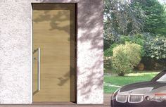Design - Ritz Flat, Model - Line, Wood - Oak, Finish - Natural. Modern external doors by Silvelox