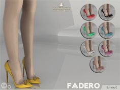 Madlen Fadero Shoes by MJ95 at TSR via Sims 4 Updates