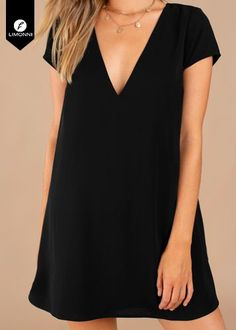 Swans Style is the top online fashion store for women. Shop sexy club dresses, jeans, shoes, bodysuits, skirts and more. Cute Dresses, Casual Dresses, Short Dresses, Casual Outfits, Dresses With Sleeves, Dress Outfits, Fashion Dresses, Simple Black Dress, Mode Inspiration
