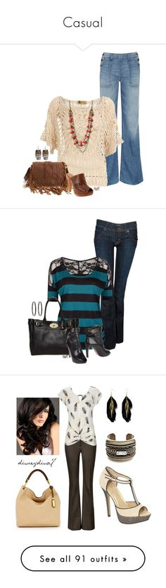 """""""Casual"""" by vkowdeed ❤ liked on Polyvore featuring TEXTILE Elizabeth and James, Dorothy Perkins, Charlotte Russe, Corso Como, Lucky Brand, Sparkling Sage, Hudson Jeans, Full Tilt, Mulberry and Prada"""