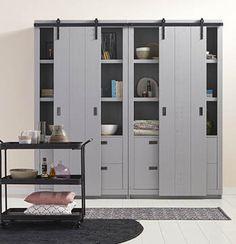 Tall Cabinet Storage, Locker Storage, Living Room Interior, Home And Living, Home Office, Loft, Shelves, Furniture, Design