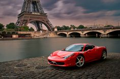 Someday, I would like to drive my Ferrari up to Paris.