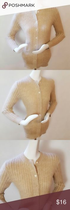 """💋1-DAY SALE💋J. Tiktiner Cardigan J. Tiktiner Côte D'azur Nice Cardigan Sweater. Eight button front closure. Two front pockets. Color: beige. Material feels similar to wool. Measurements: 36"""" bust, 27"""" length, 22 1/2"""" sleeve length. Sweaters Cardigans"""