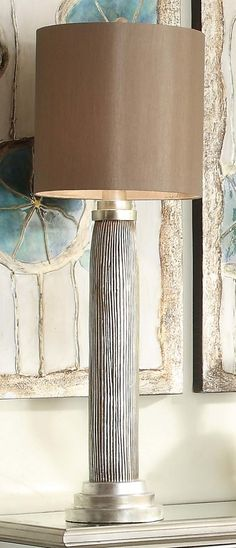 """Casablanca Buffet 39.5"""" H Table Lamp with Drum Shade"""