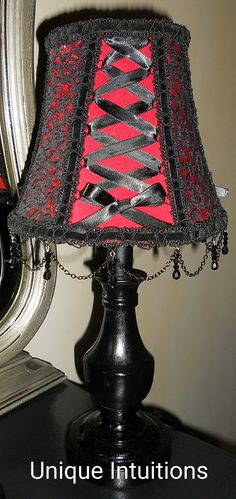 Gothic Corset lampshade - This would look amazing in purple and black Goth Bedroom, Bedroom Red, Gothic Bedroom Decor, Gothic Bathroom, Red Bedrooms, Gothic Furniture, Furniture Decor, Furniture Dolly, Goth Home Decor