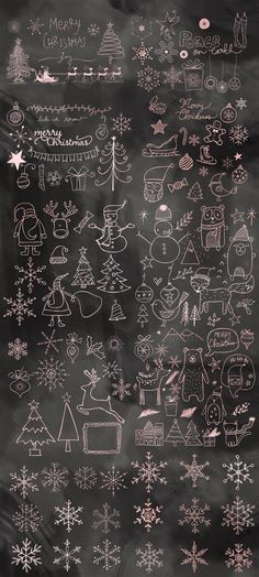 Christmas Doodles Mega Pack by 7th Avenue Designs on @creativemarket
