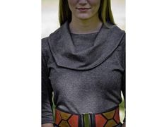 Asymmetrical Joni Turtle Neck Jumper by lur apparel, sold at Roozt.com