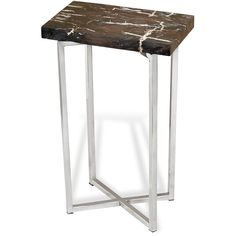 Argo Modern Rustic Petrified Wood Rectangular Side Table ($564) ❤ liked on Polyvore featuring home, furniture, tables, accent tables, rectangle side table, square accent table, square side table, rectangular side table and word tables