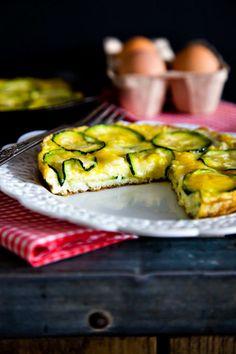 Zucchini frittata, ideas for xmas brunch