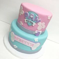 Image result for skye and everest paw patrol cake