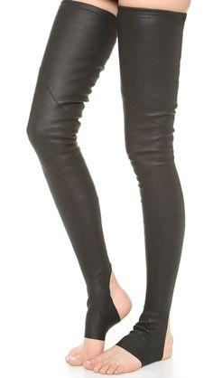 Gareth Pugh Leather Socks