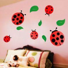 wall decals for the home Ladybug Room, Ladybug Nursery, Nursery Themes, Nursery Decor, Nursery Ideas, Room Ideas, San Antonio, Childrens Room Decor, Nursery Wall Decals