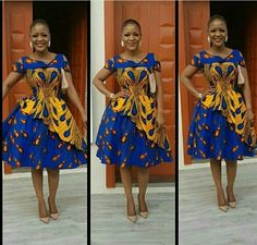 African women midi dresses / short African print dress for women / Ankara midi dress / african clothing for women / Ankara clothing African Prom Dresses, Latest African Fashion Dresses, African Print Fashion, Ankara Fashion, African Women Fashion, African Dress Styles, African Prints, African Attire, African Wear